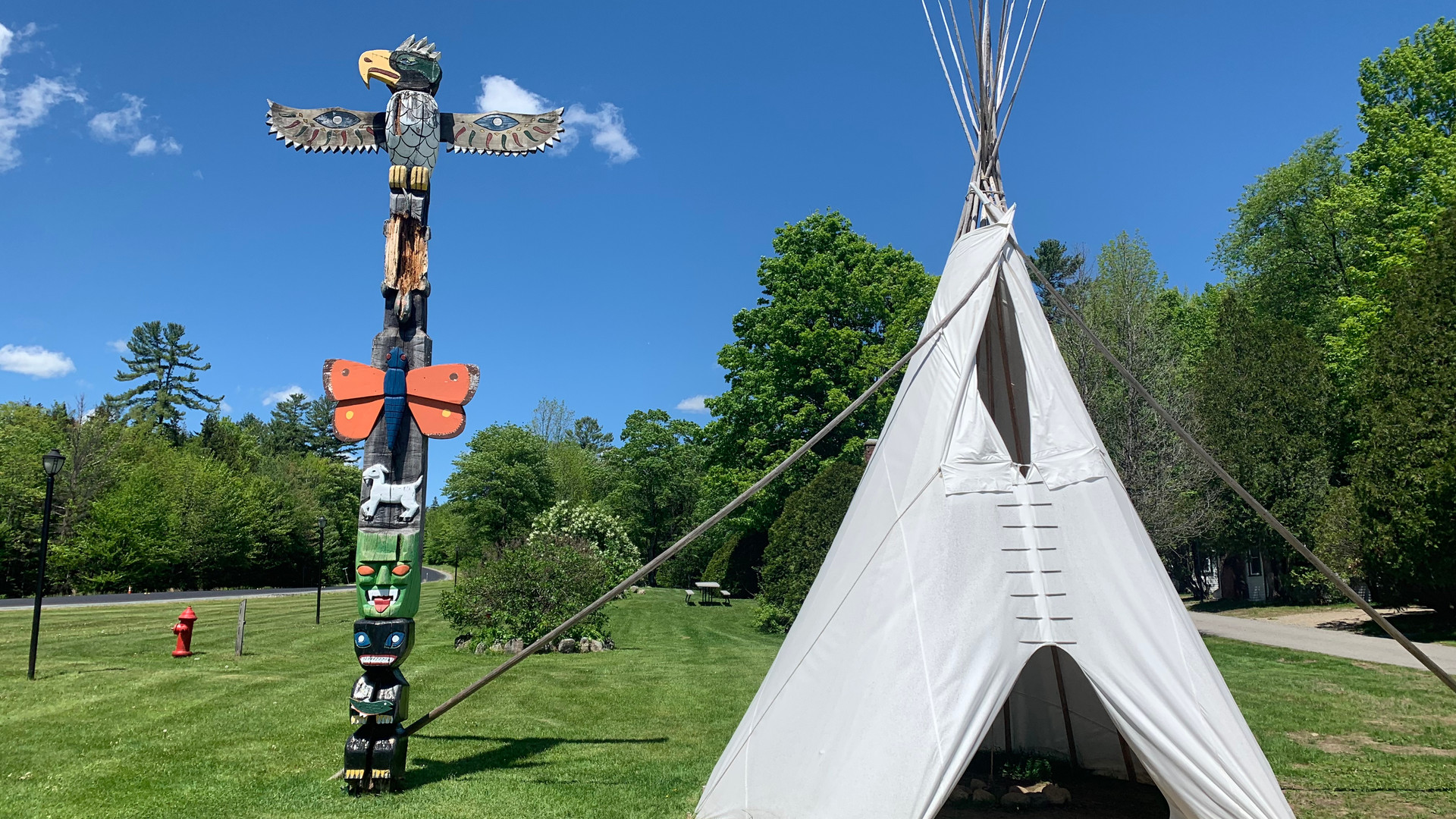 Teepee and Totem Pole