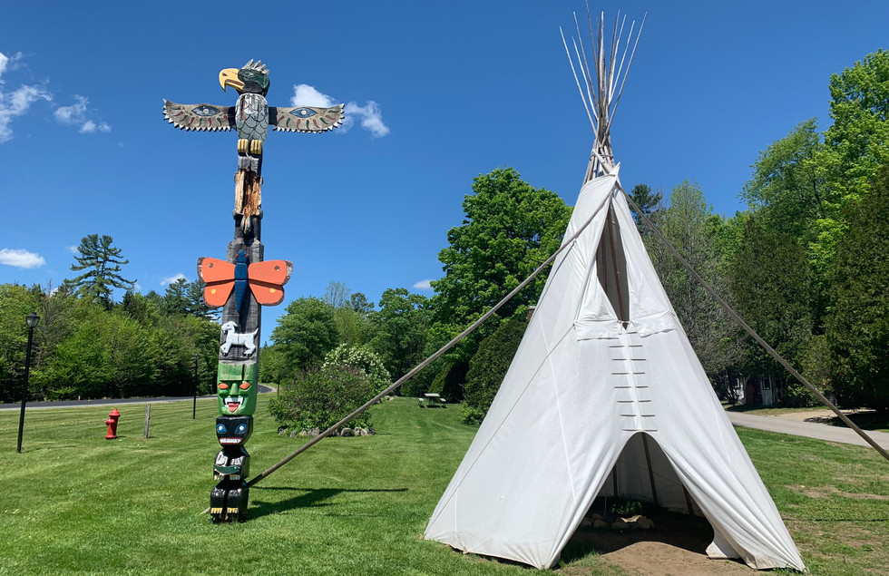 Teepee and Totem Pole
