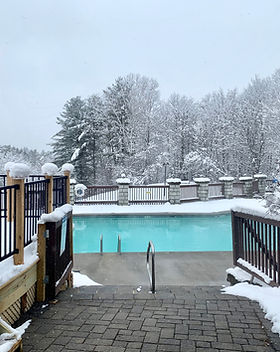 Outdoor Heated Pool Winter
