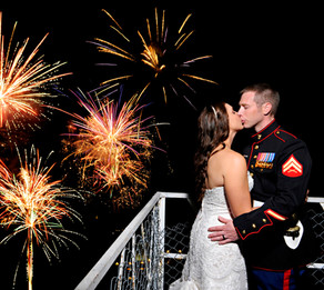 Indian Head Resort Fall Wedding with Fireworks