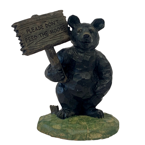 Bear Holding Sign