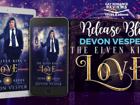 The Elven King's Love by Devon Vesper - Release Blitz, Excerpt & Giveaway