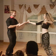 My Viking and I salsa dancing :)