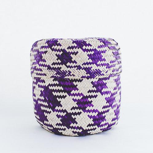 墨西哥手織棕櫚葉籃子