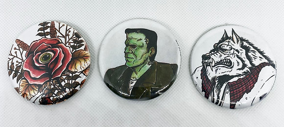 Monsters Button Pack