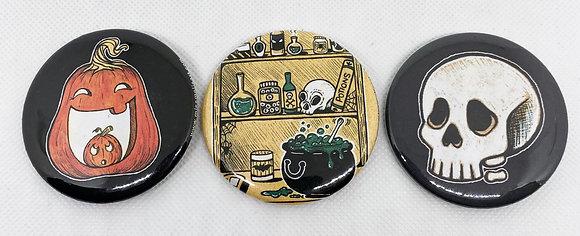 Inktober Button Pack