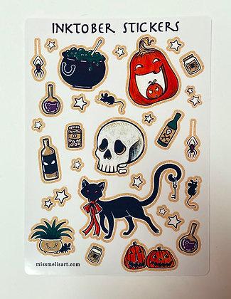 Large Inktober Sticker Sheet