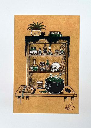 Potion's Cabinet Mini Print