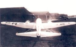 Vliegtuig van achter
