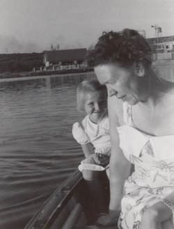 C.E. Pernot met dochter