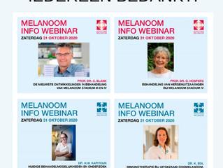 Eerste serie Melanoom Info Webinars goed bekeken