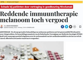 Adjuvante therapie met nivolumab bij hoogrisico melanoom stadium III toch vergoed