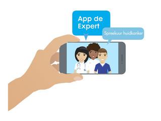 Vragen over huidkanker? App de Expert op Wereldkankerdag  tijdens live-uitzending