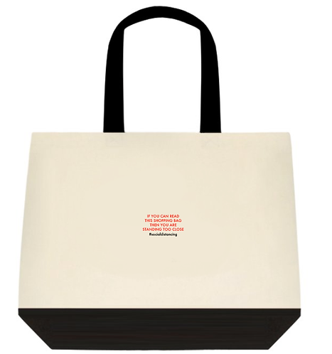 Standing too close Tote Bag:  2-Tone
