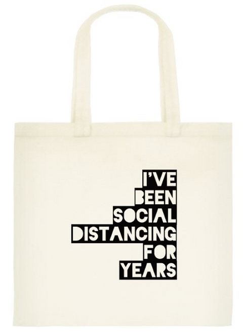 Distancing for years Tote Bag: Standard