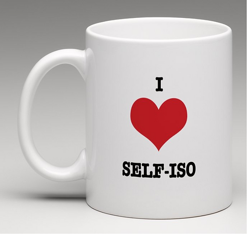 I love self-iso Coffee Mugs
