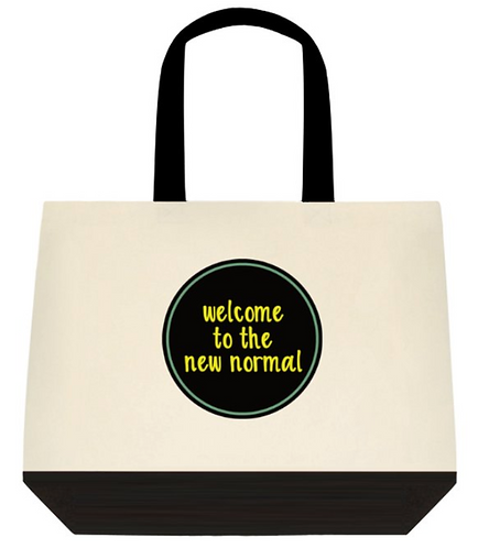 The new normal Tote Bag:  2-Tone
