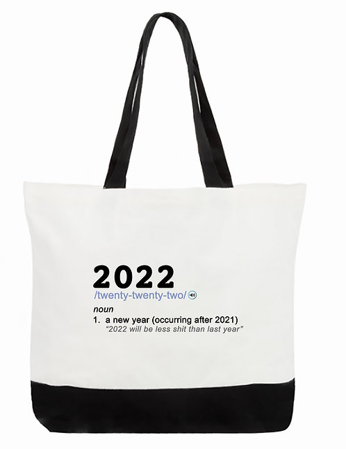 2022-Noun Tote Bag:  2-Tone