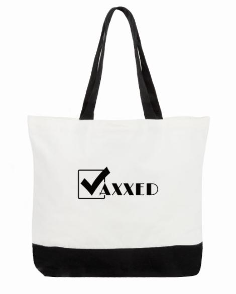 Tick: Vaxxed Tote Bag:  2-Tone