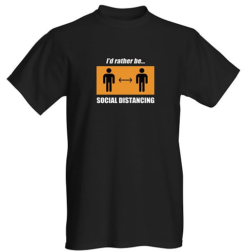 Rather be social distancing T-shirt - Unisex