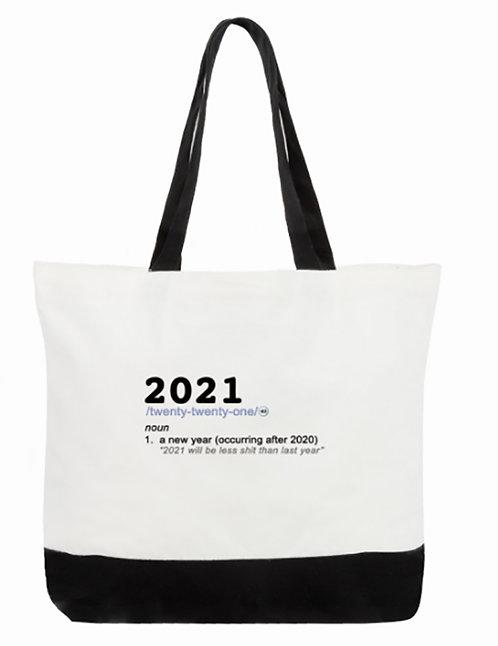 2021-Noun Tote Bag:  2-Tone