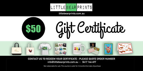 gift certificates for online shop
