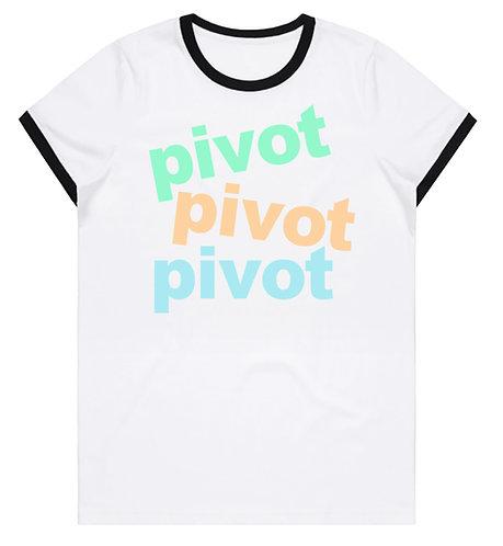 Pivot pivot pivot ringer T-shirt