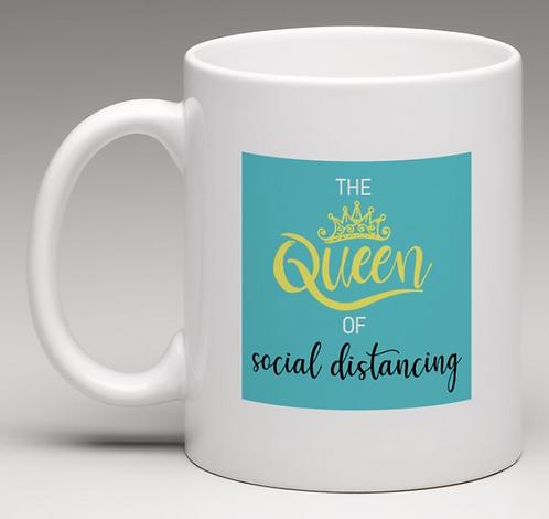 Queen of Social Distance Coffee Mugs
