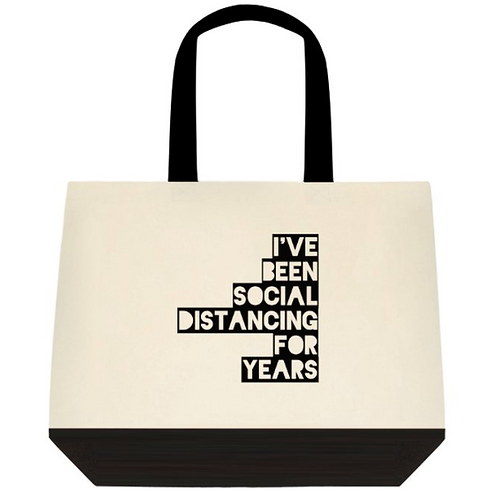 Distancing for years Tote Bag:  2-Tone