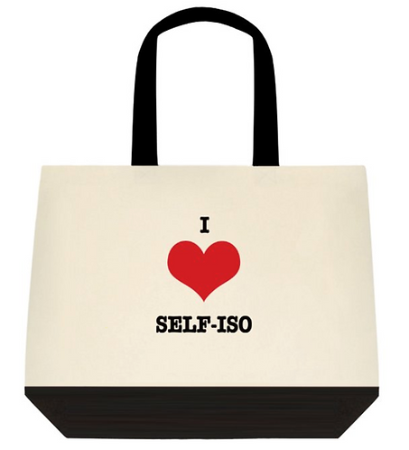 I love self-iso Tote Bag:  2-Tone
