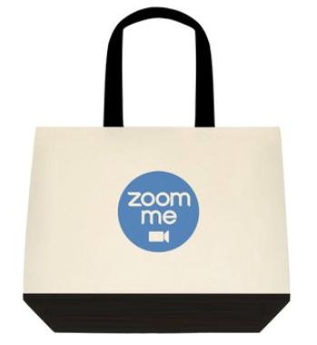 Zoom me Tote Bag:  2-Tone