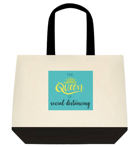 Queen of distancing Tote Bag:  2-Tone