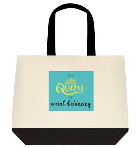 Queen of distancing Tote Bag:  2-Tone