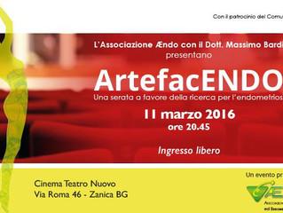 11 marzo AEndo in provincia di Bergamo per l'11 marzo, in favore della ricerca che conduce la Do