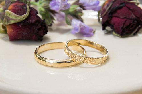 זוג טבעות נישואים- זהב 14 קרט