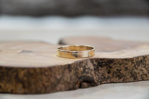 טבעת זהב 14K קלאסית חלקה