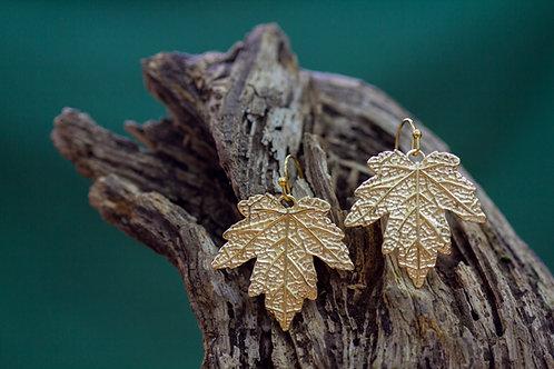עגילים תלויים עלים של עץ מייפל בינונים