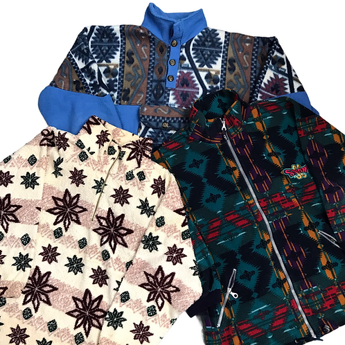 Vintage crazy Print Fleece Mix