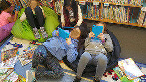 Kindles and Bean Bags