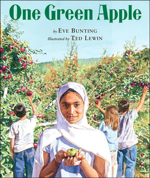 This week we read One Green Apple by Eve Bunting