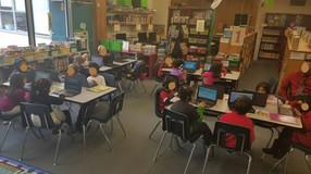 Kindergarten and 1st on Chromebooks too!