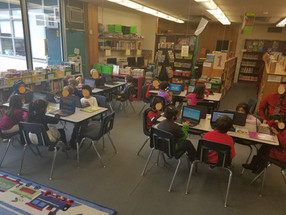 Kindergarten and 1st on Chromebooks too!