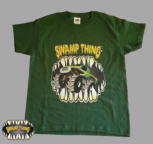 Swamp Thing 4x4 Kids T-Shirts