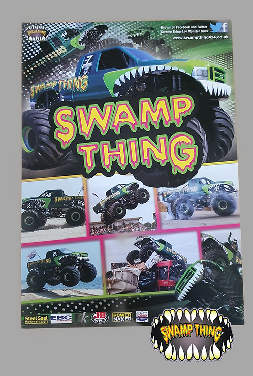 Swamp Thing 4x4 Poster