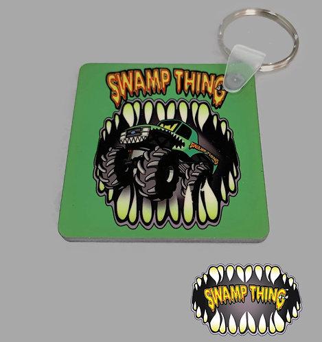 Swamp Thing 4x4 Key Ring