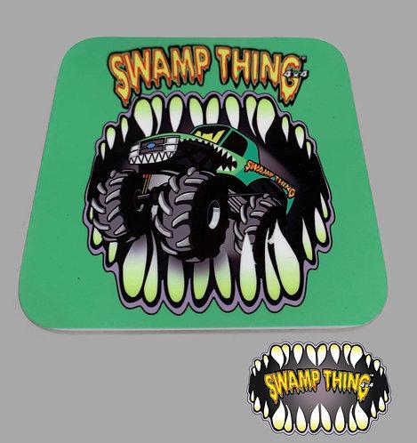 Swamp Thing 4x4 Coaster