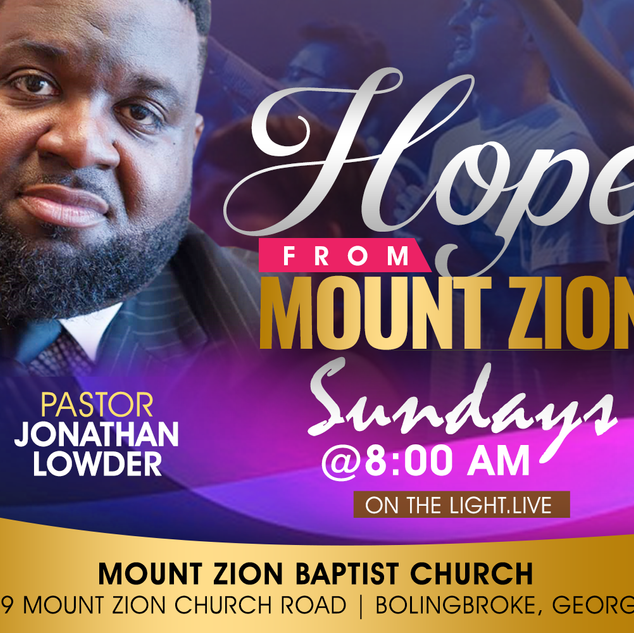 Hope From Mount Zion Baptist Church