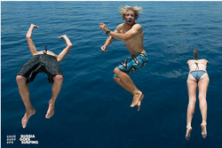 прыгаем с яхты