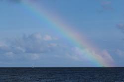 радуга на Мальдивах