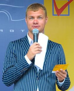 Ведущий на презентацию Самара, Уфа